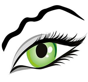 Augenbrauen in Wellenform