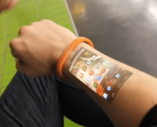 Cicret Bracelet macht Unterarm zum Smartphone-Display