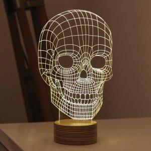 Bulbing LED-Leuchte stylische Lichtskulptur mit 3D-Effekt