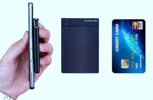 Sunslice Solar das Kreditkartengroße Solarladegerät