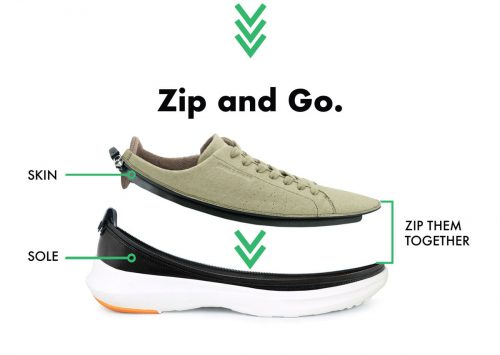 Zip and Go ACBC Modulare Reiseschuhe