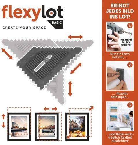 flexylot Flexible und justierbare Bildaufhängung Anwendungsformen