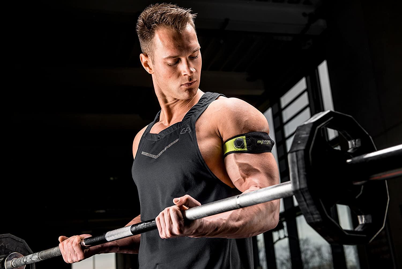 Optimierter Muskelaufbau mit der innovativen Bandage von mybimaxx Training Mann