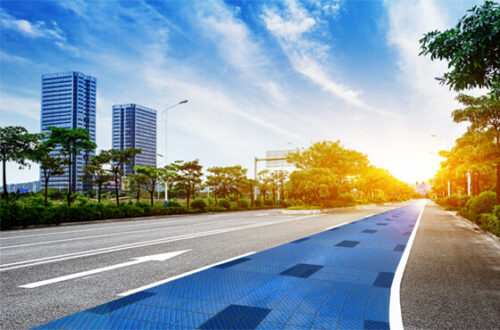 Solmove Stromerzeugung durch induktives laden mit Solarstraße